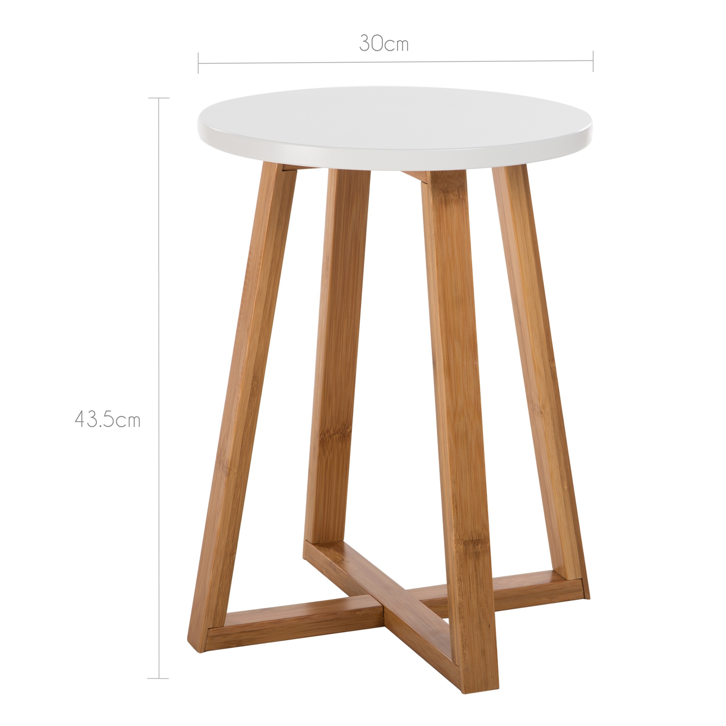Table D Appoint Blanche Table D 39appoint Ronde Skandi Commandez Nos Tables D