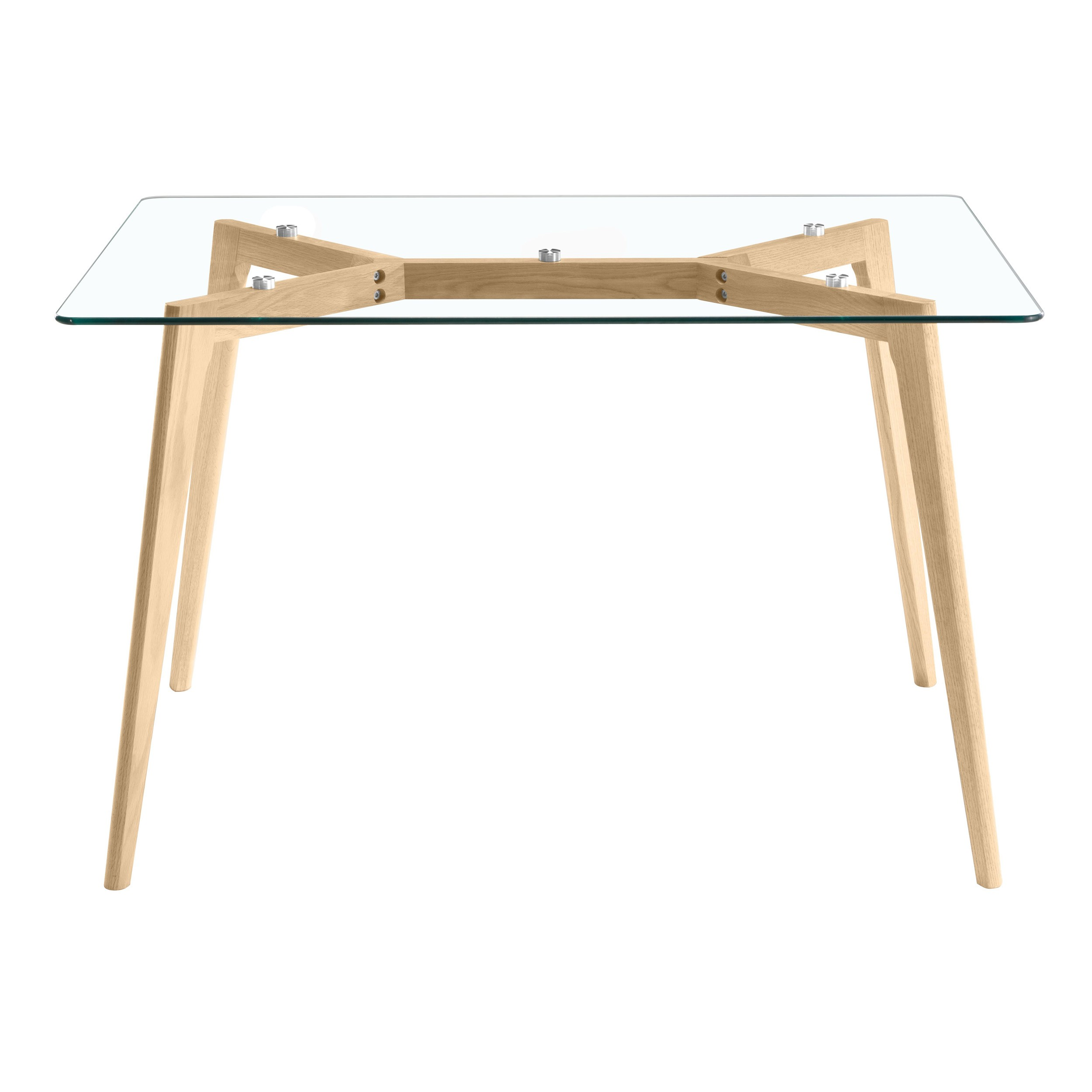 Pied Table En Verre Table Rectangulaire Neiden 120 Cm