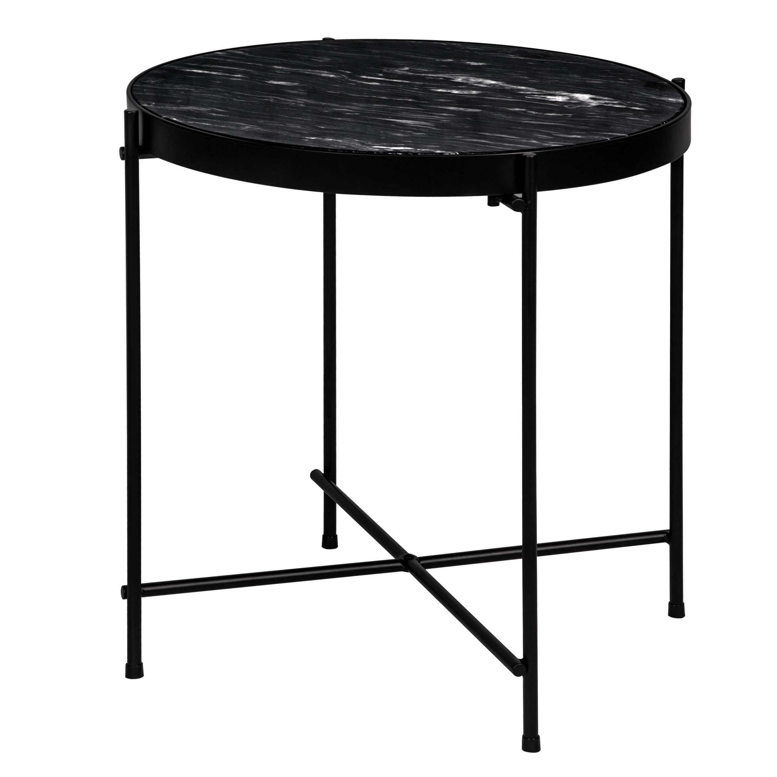 Table Salon Marbre Table Basse Ronde Thilda Large Marbre Noire