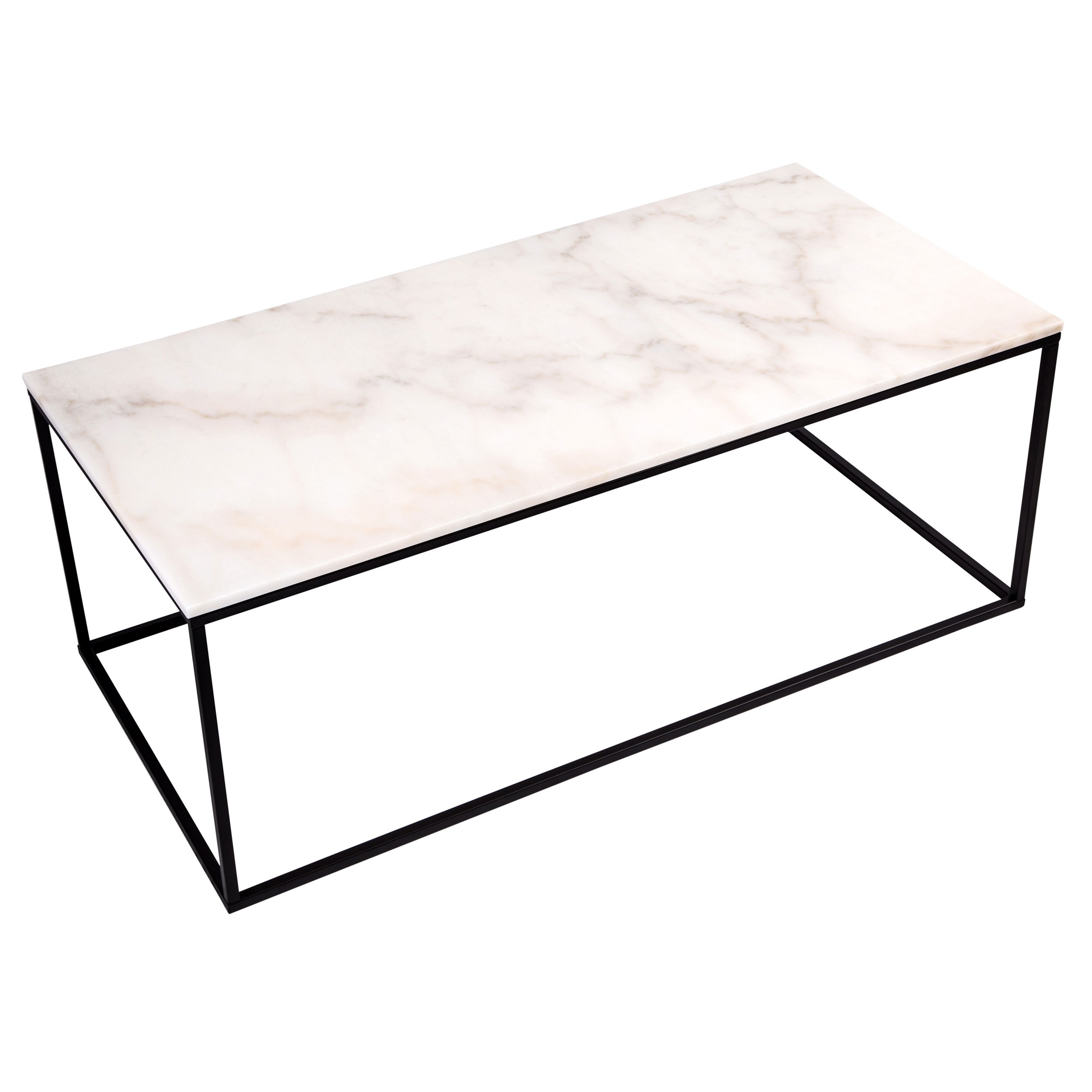 Table Rectangulaire Blanche Table Basse Rectangulaire Dagmar Marbre Blanche