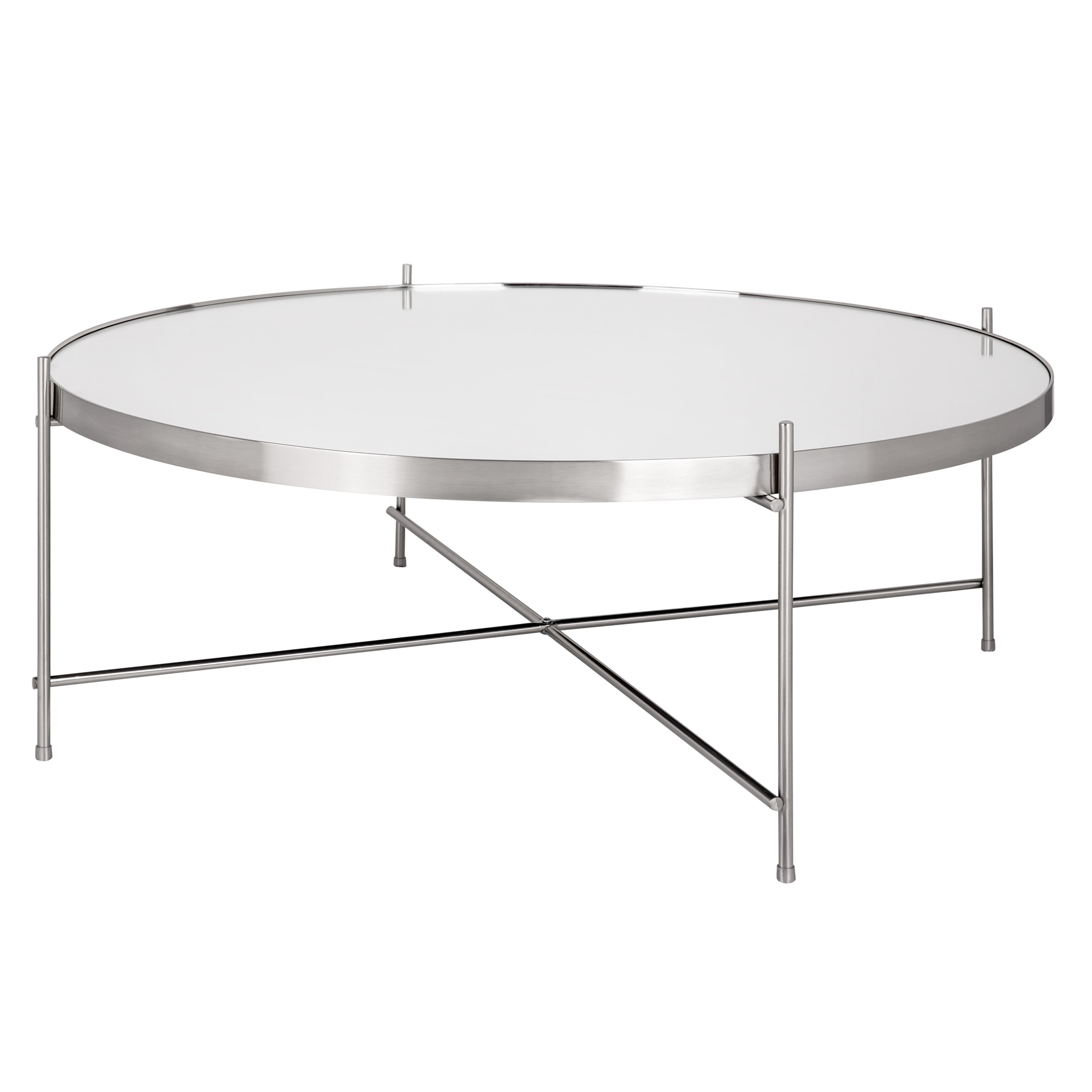 Table Basse Ronde Design Table Basse Ronde Valdo Argent L