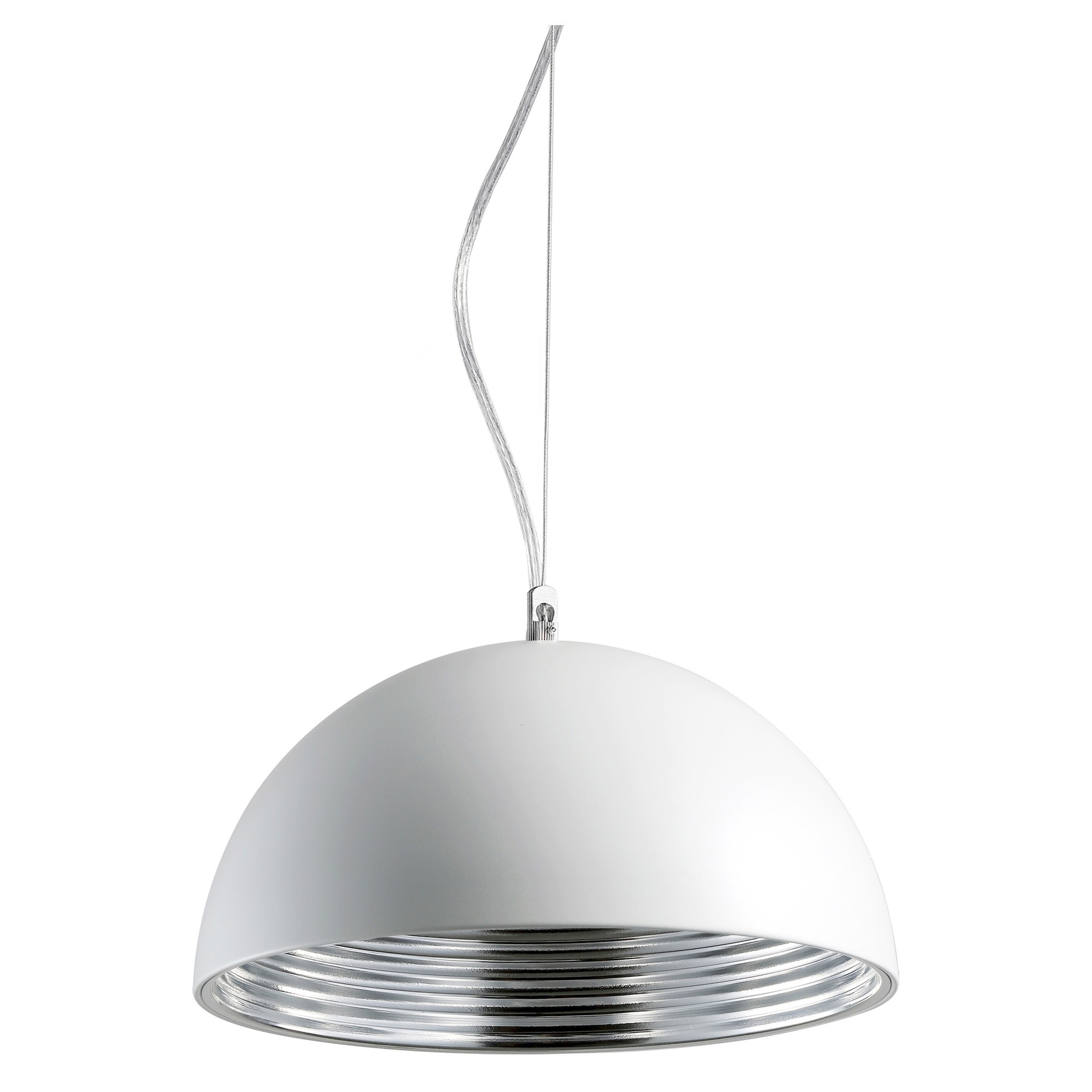 Suspension Blanche Suspension Studio Blanche Et Argent L