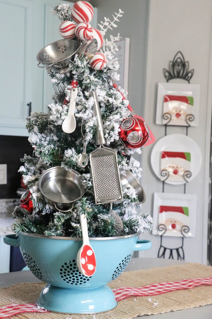 Colander Kitchen Christmas Tree - Re-fabbed