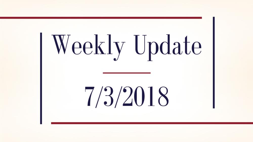 Weekly Update (7/3/2018) - Reaching Japan