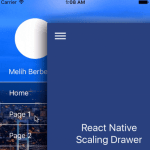 React Native Scaling Drawer