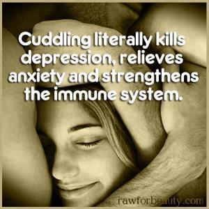 72 Cuddling literally kills depression