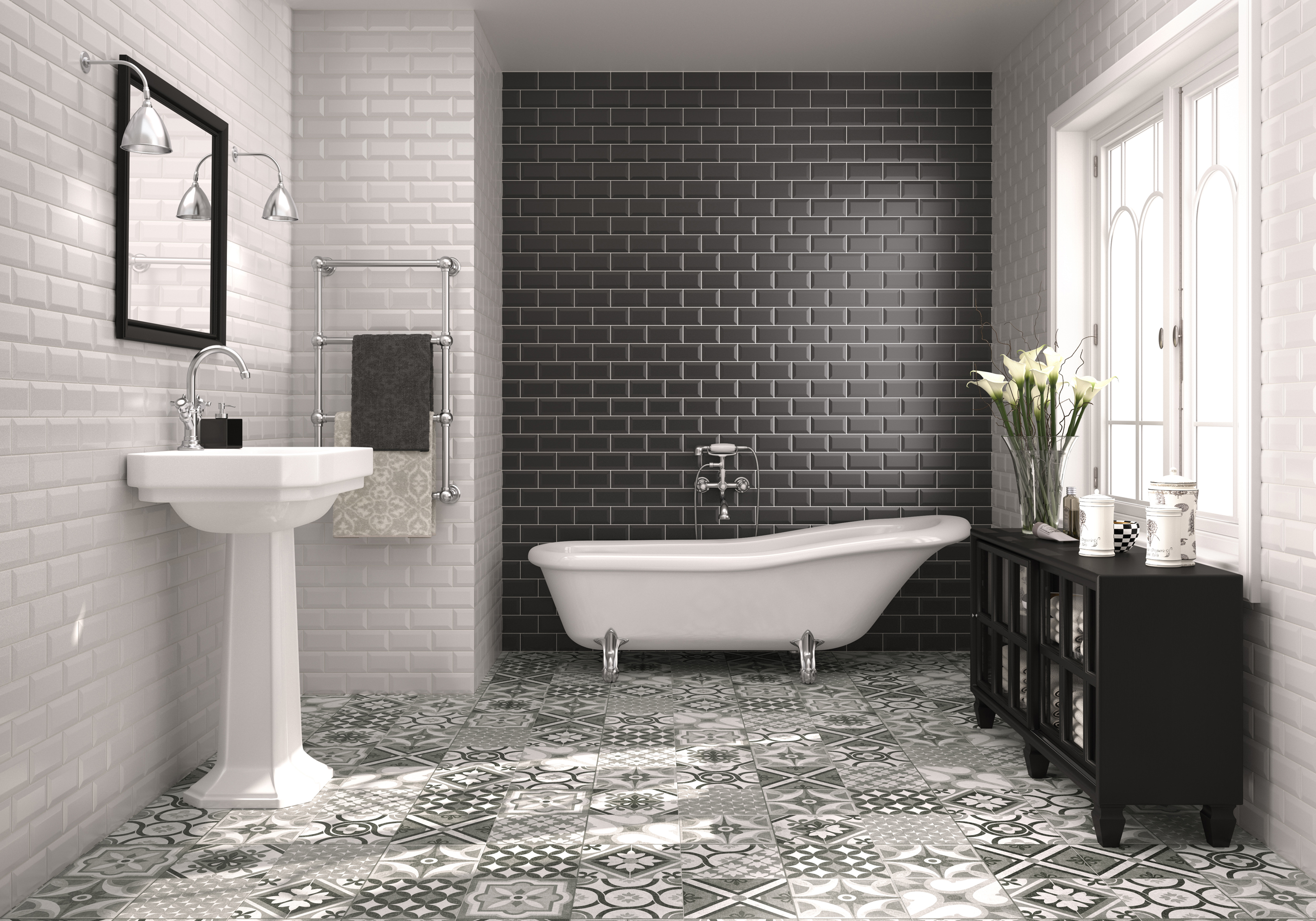 How To Make A Statement With Bold Bathroom Tiles Reader S Digest