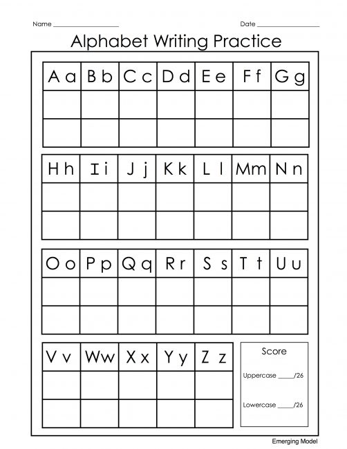 Alphabet Writing Practice Reading on Strawberry Lane