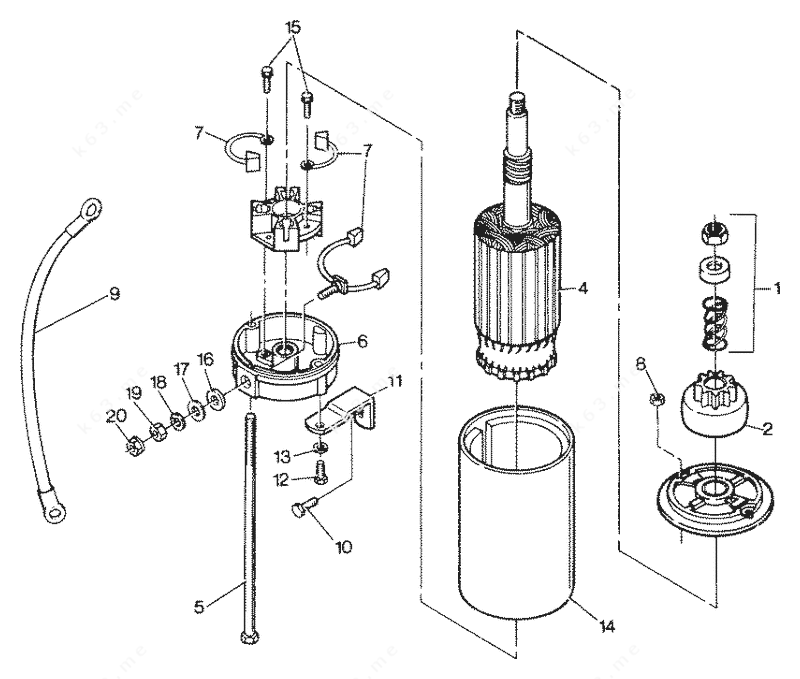 force diagram ion engine