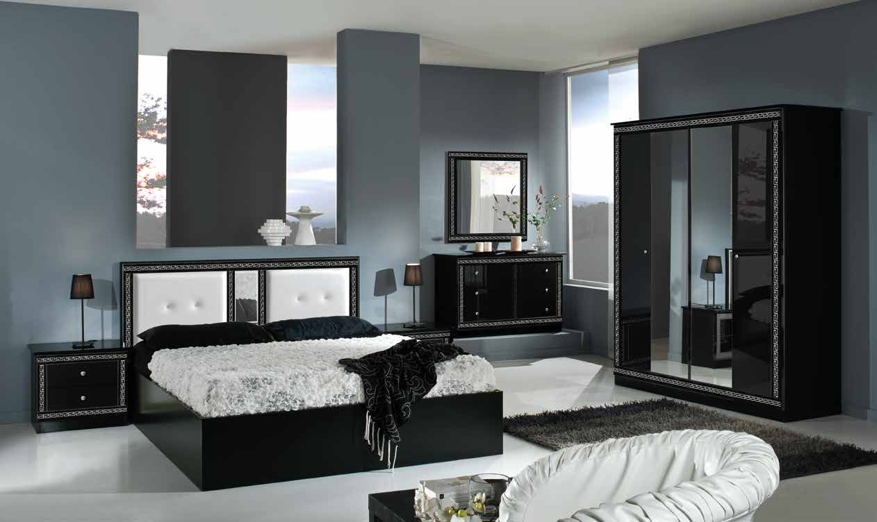 Italian Furniture Bedroom Italian Versace Style Bedroom With 4 Door Wardrobe Ready