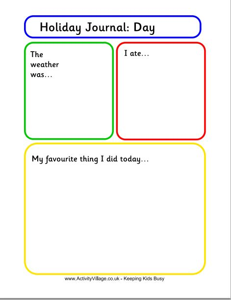 Free Journal Writing Pages Holiday Journal Template for Kids