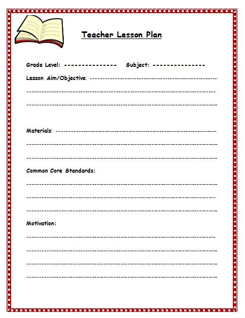 Free Lesson Plan Template Lesson Plan Template for Teachers - lesson plan outline