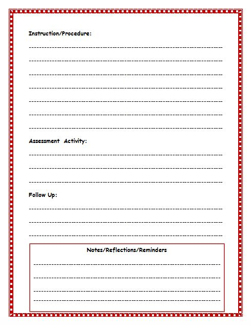 free lesson plan template - easy lesson plan template