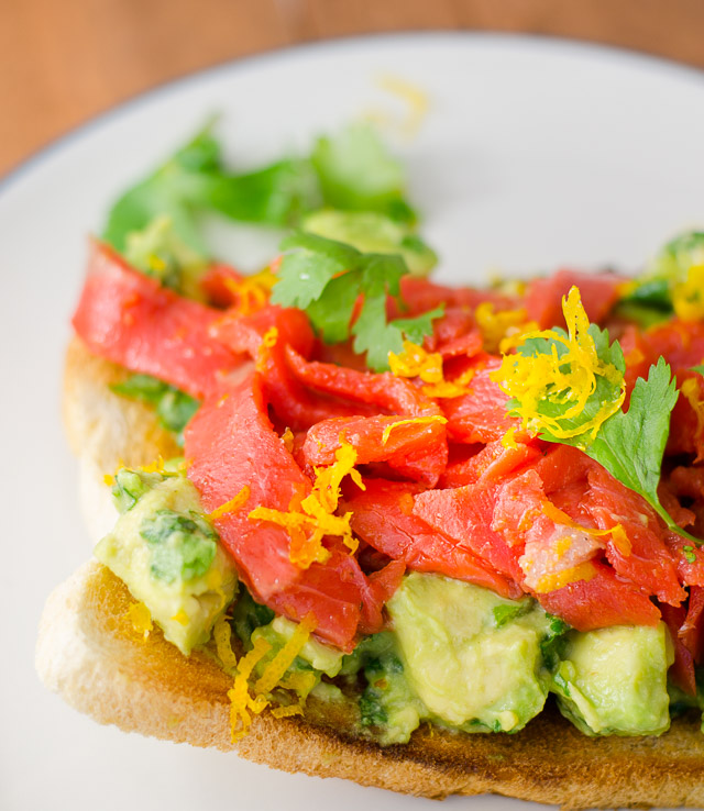 Open-Face Smoked Salmon and Avocado Sandwich - Ready to Yumble
