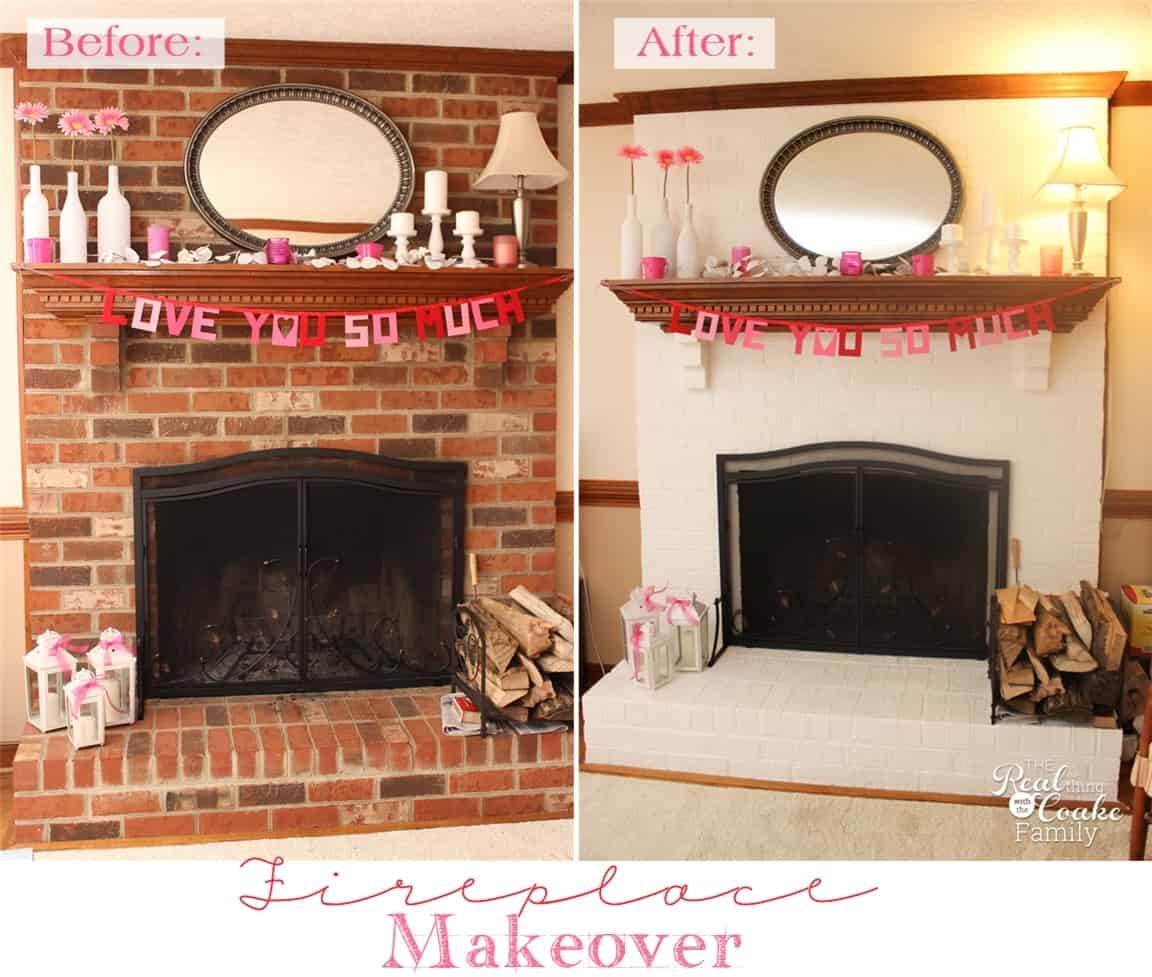 Update Old Brick Fireplace My Exceptionally Easy And Dramatic Fireplace Makeover