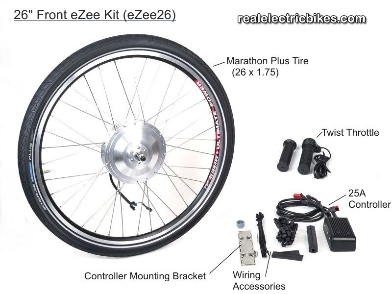 electric bike conversion kit front hub motor with rim and full