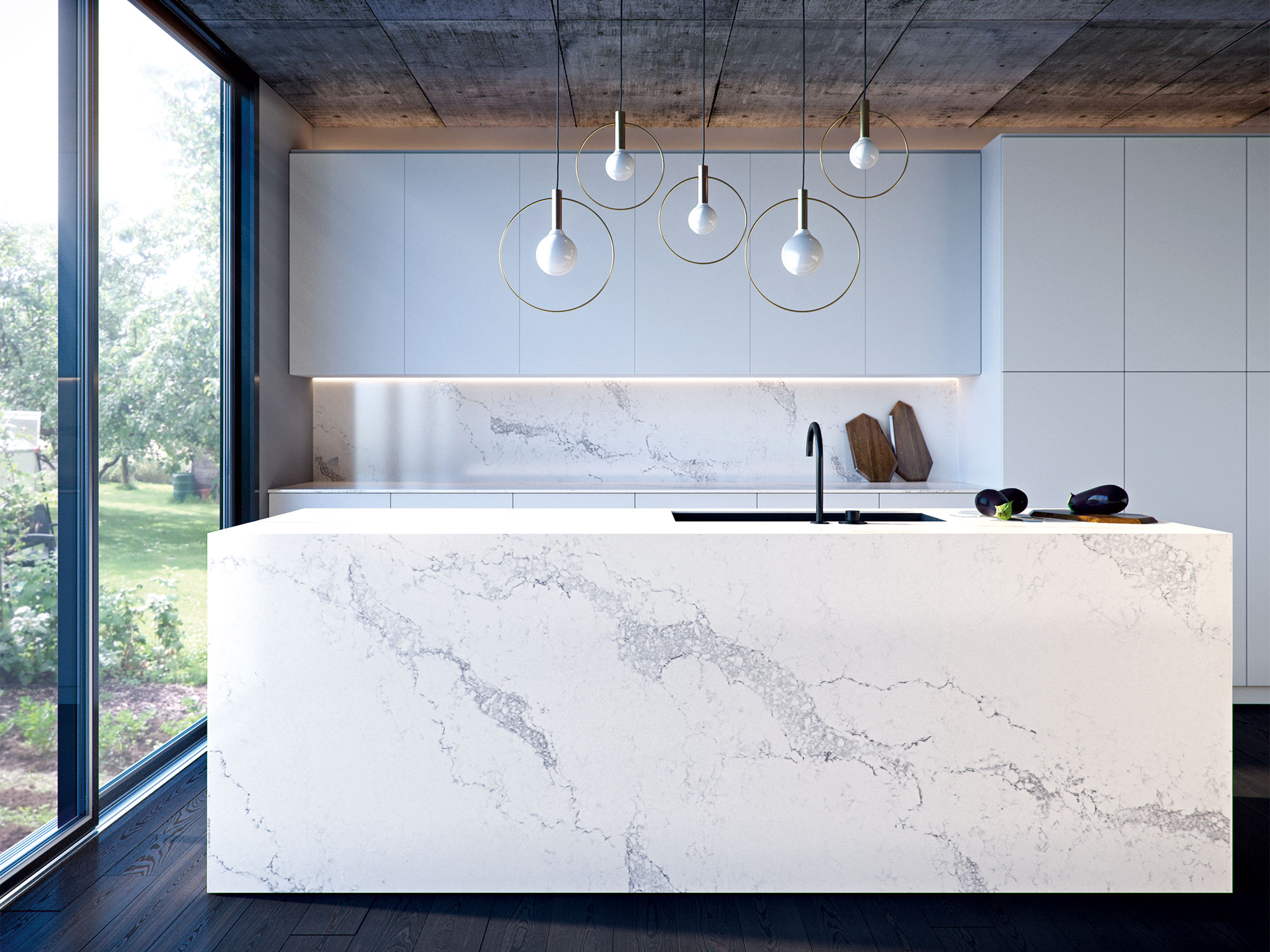 Stone Bench Tops Off Cuts 4 Ways To Nail A Marble Look Kitchen Bench Top Realestate Au