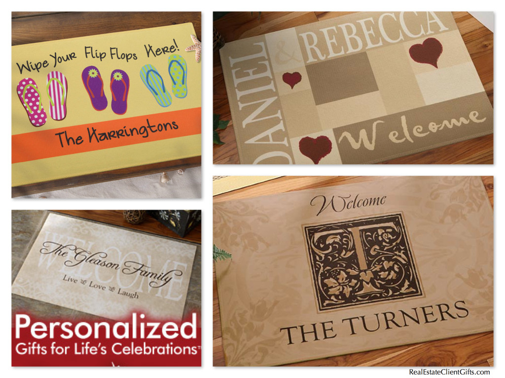 Personalized House Warming Gift Welcome Doormats Make Wonderful Realtor Housewarming Gifts