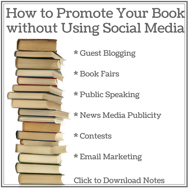 how to promote your book without using social media with sandra beckwith