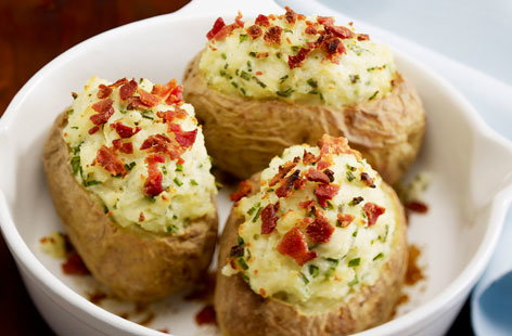 Baked Potatoes With Bacon | Tesco Real Food