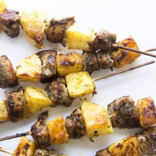 Oven Roasted Jerk Chicken Kabobs
