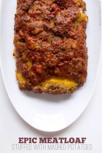 Stuffed Meatloaf with Mash Potatoes by Real Food by Dad