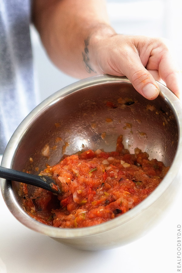 Fire Roasted Salsa Process via Real Food by Dad