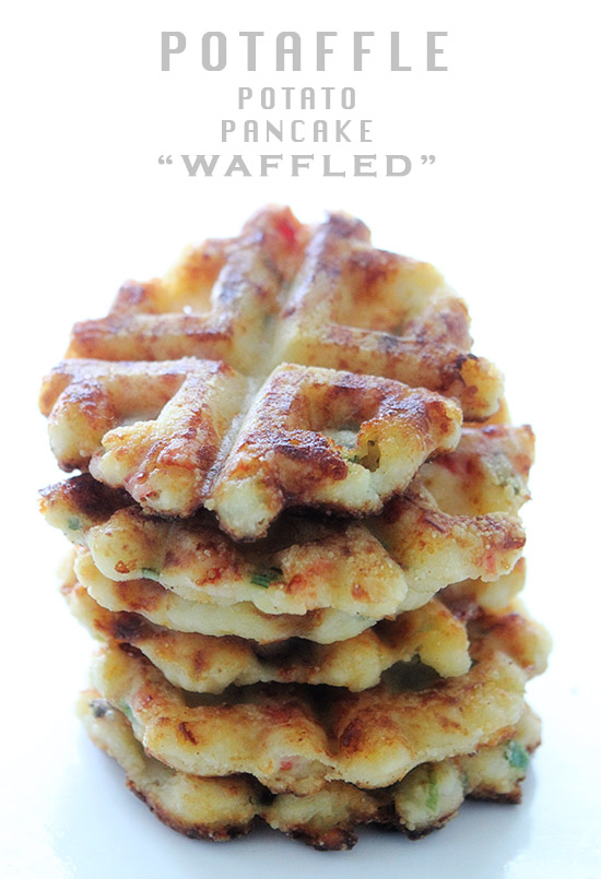 "Potaffle {Potato Pancakes ""Waffled""}"
