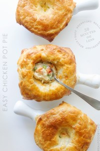 Easy Chicken Pot Pie via Real Food by Dad