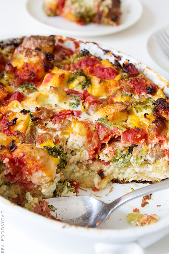 Sausage Breakfast Casserole from Real Food by Dad