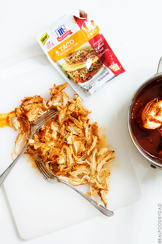Pulled Chicken Sandwich by Real Food by Dad