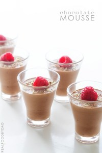 Chocolate Mousse from Real Food by Dad