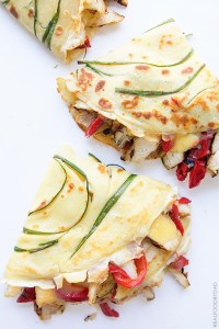 Grilled Chicken and Roasted Red Pepper Crepe Quesadilla with Real Food by Dad
