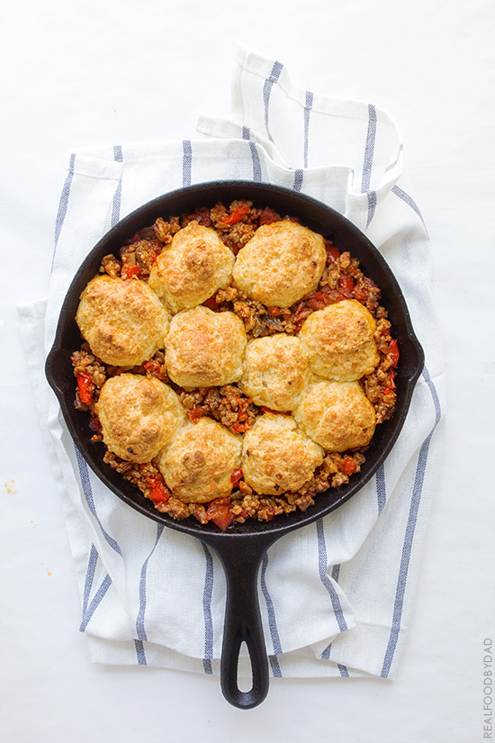 One Pan Chili Cobbler with Real Food by Dad