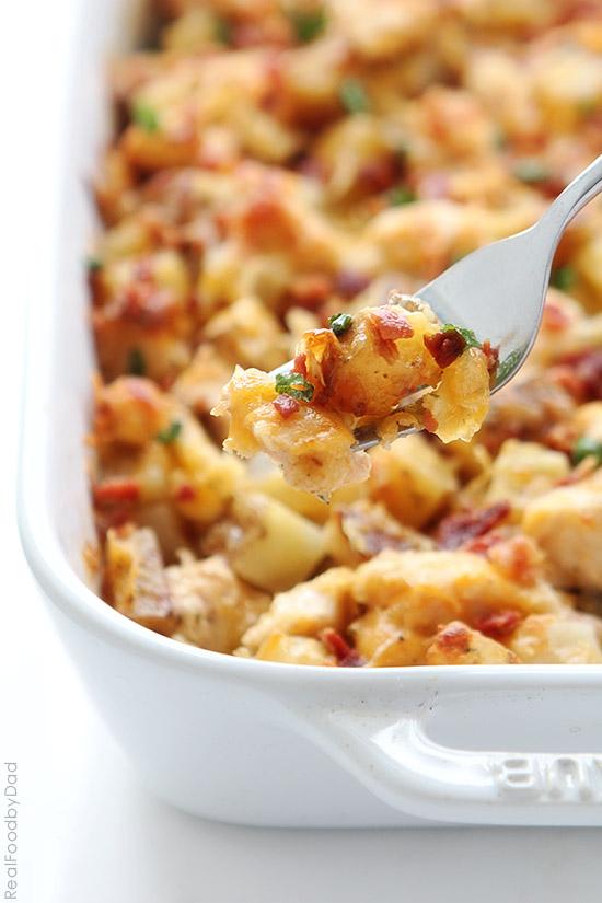 Buffalo Chicken & Potato Casserole | Real Food by Dad