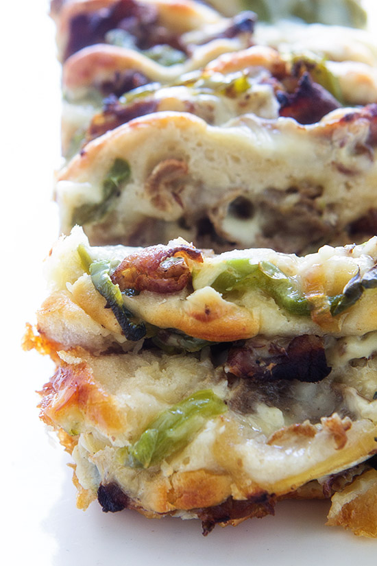 Philly Cheese Steak Pull-Apart Bread   Real Food by Dad