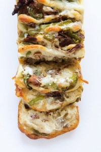 Philly Cheese Steak Pull-Apart Bread via Real Food by Dad