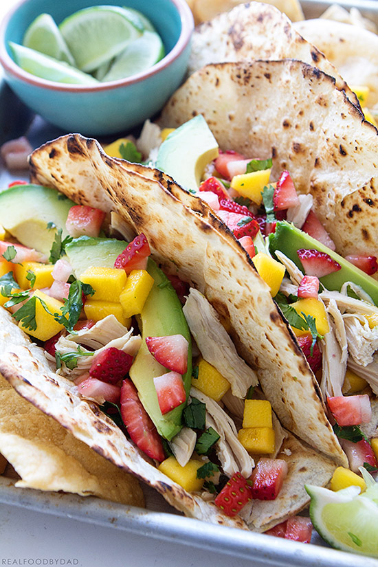 Slow-Cooker Chicken Tacos via Real Food by Dad