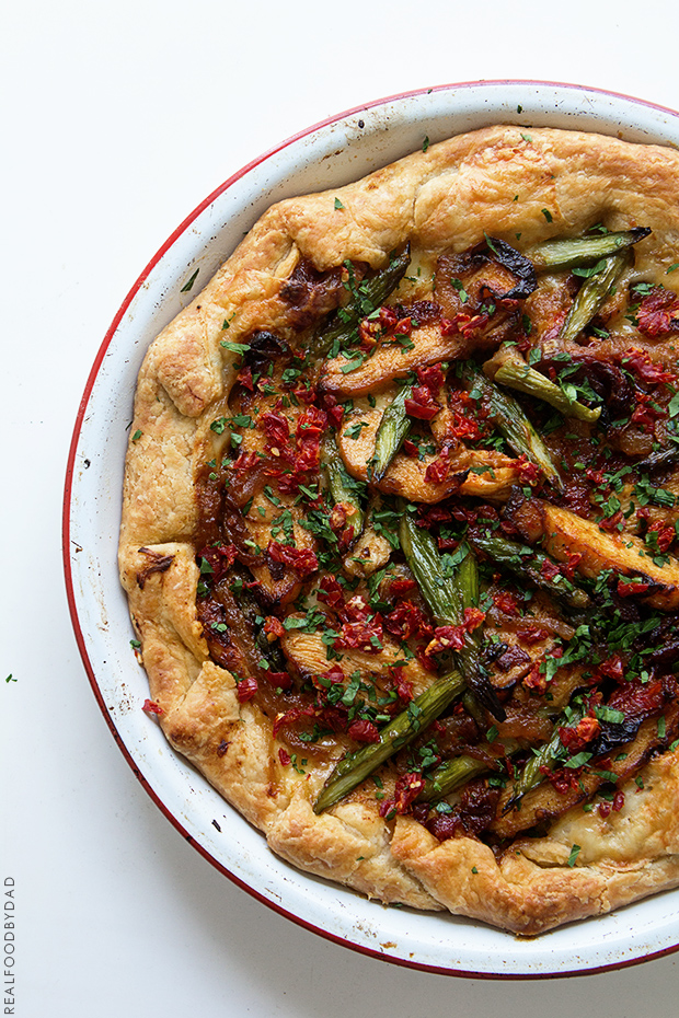 Grilled Chicken and Asparagus Tart _ Real Food by Dad