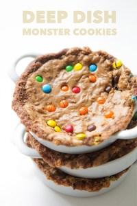 Deep Dish Monster Cookies | Real Food by Dad