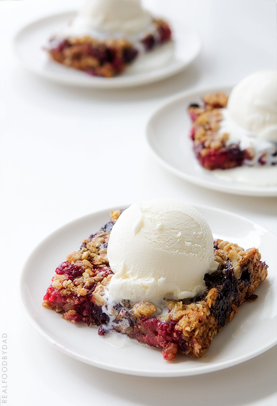 Mixed Berry Crumble | Real Food by Dad