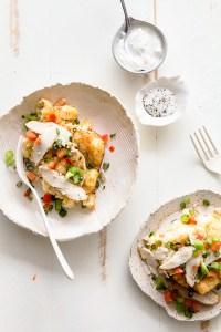 Chicken Fajita Tater Tot Breakfast Casserole via Real Food by Dad