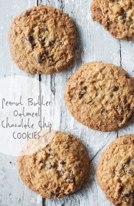 Peanut Butter Oatmeal Chocolate Chip Cookies via Real Food by Dad