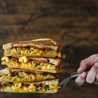 Bacon Mac and Cheese Melt via Real Food by Dad