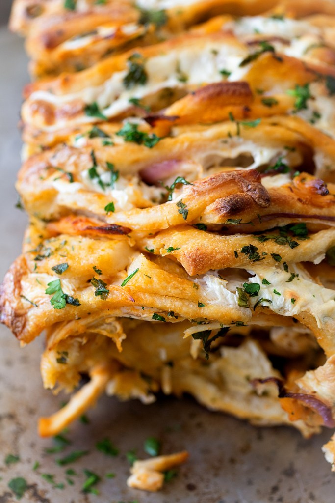 Buffalo Pull Apart Bread via Real Food by Dad