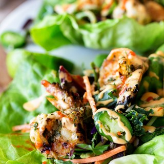 Grilled Shrimp Lettuce Wraps - Real Food by Dad