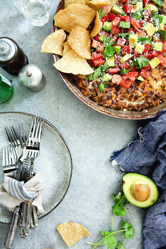 One-Skillet Cheesey Mexican Casserole via Real Food by Dad