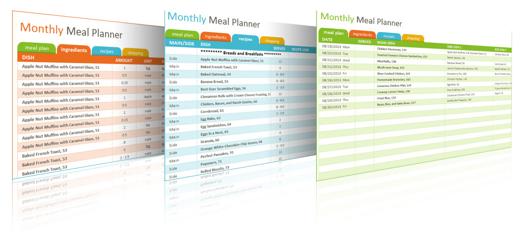 weekly meal planner book - Intoanysearch - meal plan excel template
