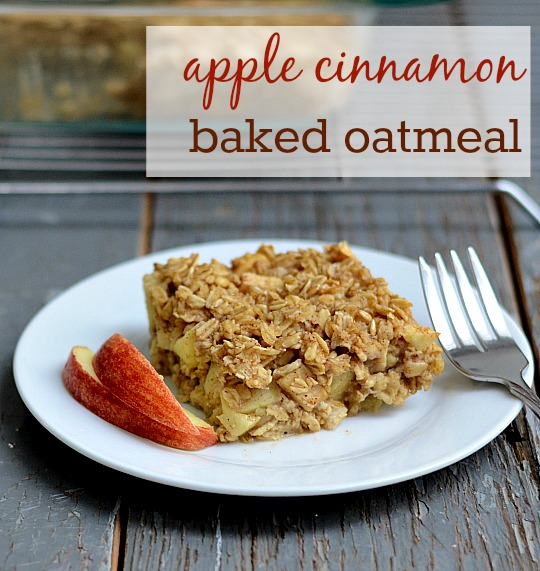 total of $2.66, or $.67 per serving. Apple Cinnamon Baked Oatmeal ...