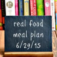 Real Food Meal Plan Week 71
